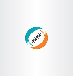 football rugby icon logo vector image