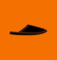 Man home slipper icon vector