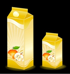 Juice carton with various fruits vector
