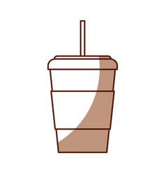 Shadow disposable coffee cup cartoon vector