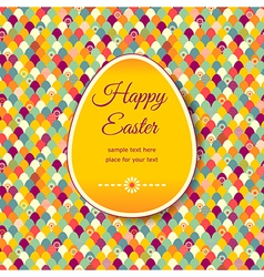 Pattern easter banner vector