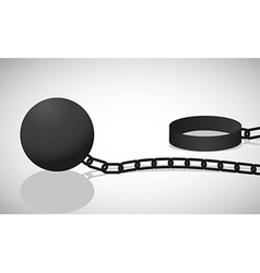 Shackle black silhouette isolated on white backgro vector