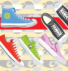 Sneaker shoes vector