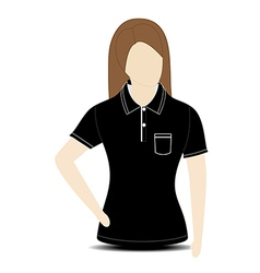 Female shirt template on the mannequin vector