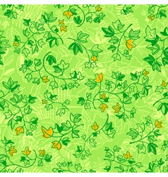 ivy leaves seamless pattern vector image