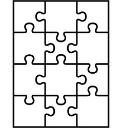 Puzzle separate parts vector