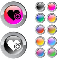 Add to vavorite multicolor round button vector image