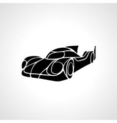 Classic car silhouette retro hot rod vector