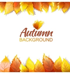 Autumn Background Template vector image vector image