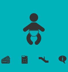 Baby icon flat vector