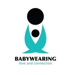 Black and blue babywearing symbol with vector