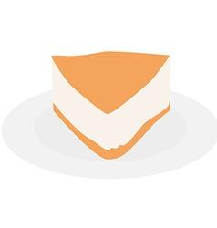 Cake slice plate vector