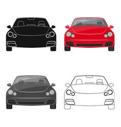Car single icon in cartoonoutlineblack style for vector