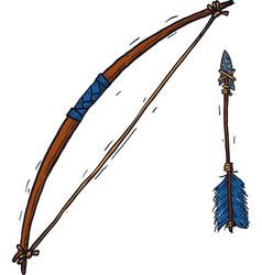 Child wooden longbow vector