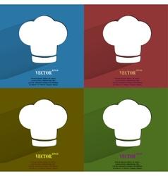 Color set Chef cap Cooking Flat modern web button vector image