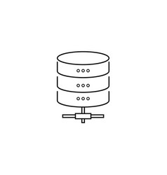 data storage protection line icon outline vector image