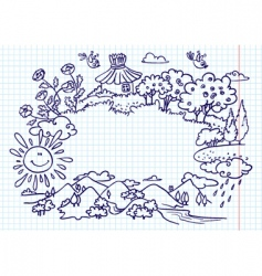 doodle frame vector image vector image