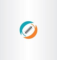 Football rugby icon logo vector