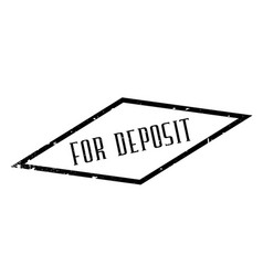 For deposit rubber stamp vector