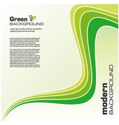 Green ecology modern background vector