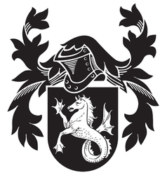 Heraldic silhouette no7 vector