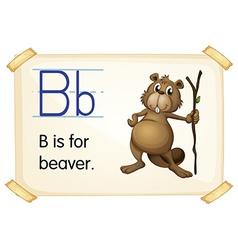 Letter b vector