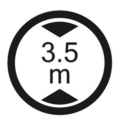 Limiting height prohibition sign line icon vector
