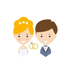 Marriage as personal happiness idea vector