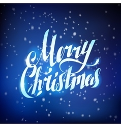 Merry Christmas Hand Lettering Greating Card vector image vector image