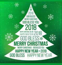 merry christmas with glitter background vector image vector image