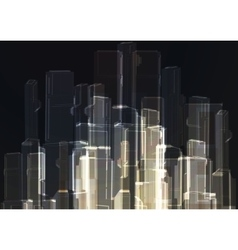 Modern glass wall of office building vector