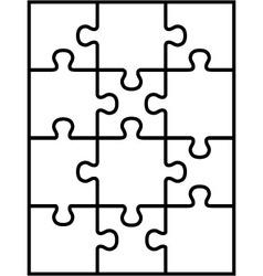 Puzzle separate parts vector