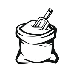 sack with whole flour vector image