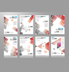 Set of brochure templates flyer designs or vector