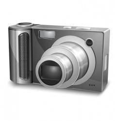 silver photo camera vector image vector image