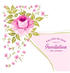 Spring flower for vintage card vector image