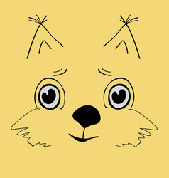 squirrel cute head cartoon vector image vector image