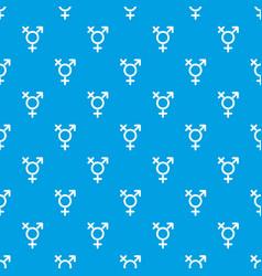Transgender sign pattern seamless blue vector