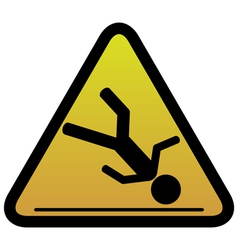warning sign slippery vector image vector image