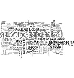 What exactly is alzheimer text word cloud concept vector