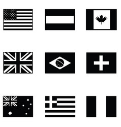 world flag icon set vector image