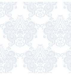 Vintage damask swirl flower pattern vector