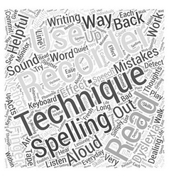 Everyday techniques in dealing with dyslexia word vector
