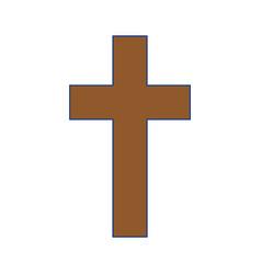 Christian cross symbol vector