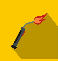 welding torch icon flat style vector image