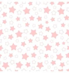 seamless pattern of pink pentagonal stars vector image
