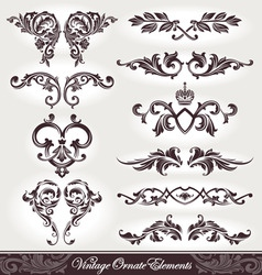 set of ornaments vector
