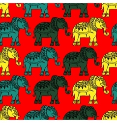 Background with elephants vector image