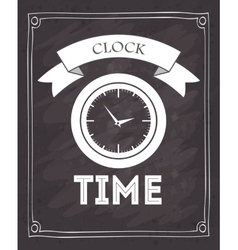 Clock and time design vector