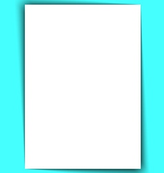 Blank a4 white paper with shadow vector